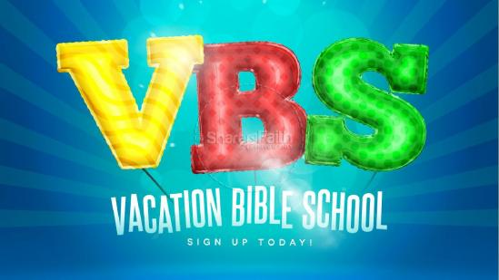 This year's Vacation Bible School will be held on the church campus, Monday 26-30, 5:30-8:00 pm.